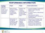 performance information3