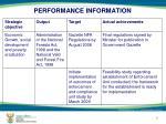 performance information4