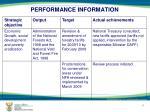 performance information5