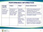 performance information6