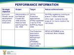 performance information7