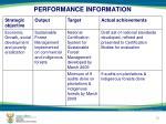performance information8