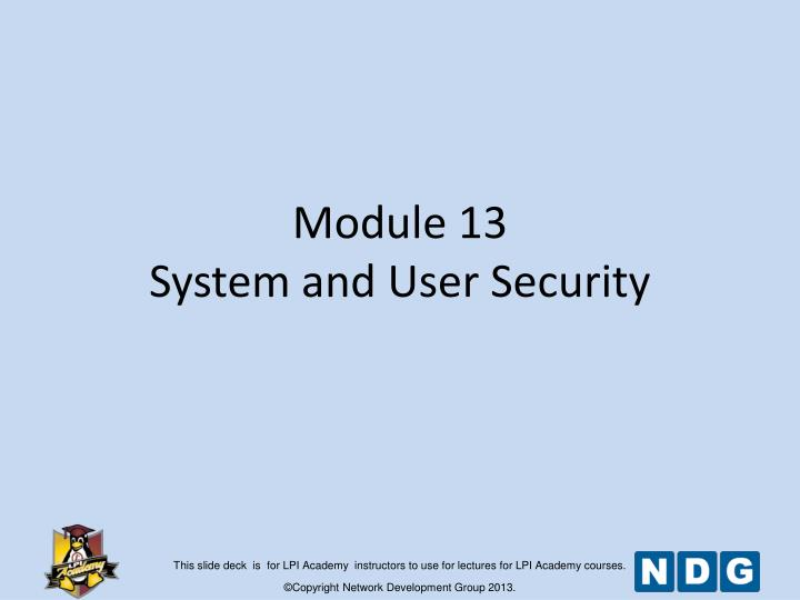module 13 system and user security n.