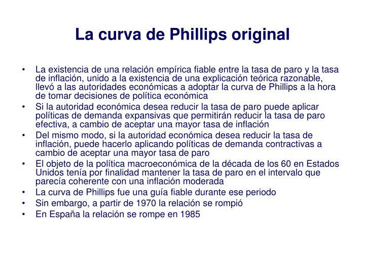 La curva de Phillips original