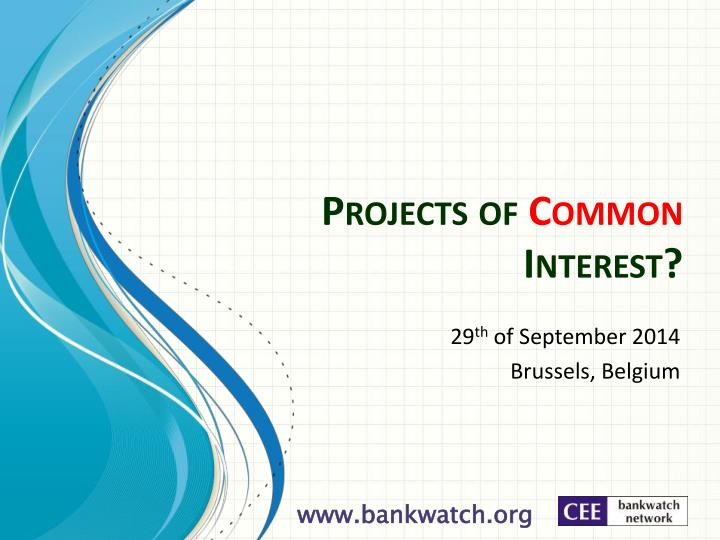 projects of common interest n.