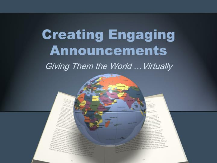 creating engaging announcements n.