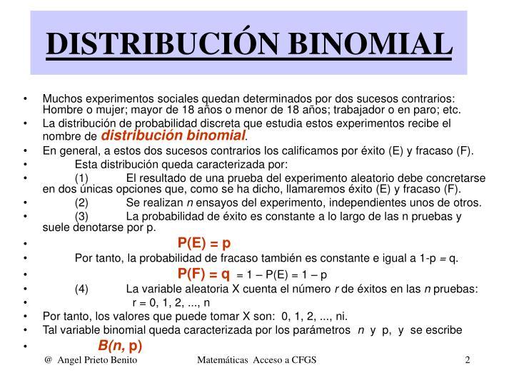 Distribuci n binomial1