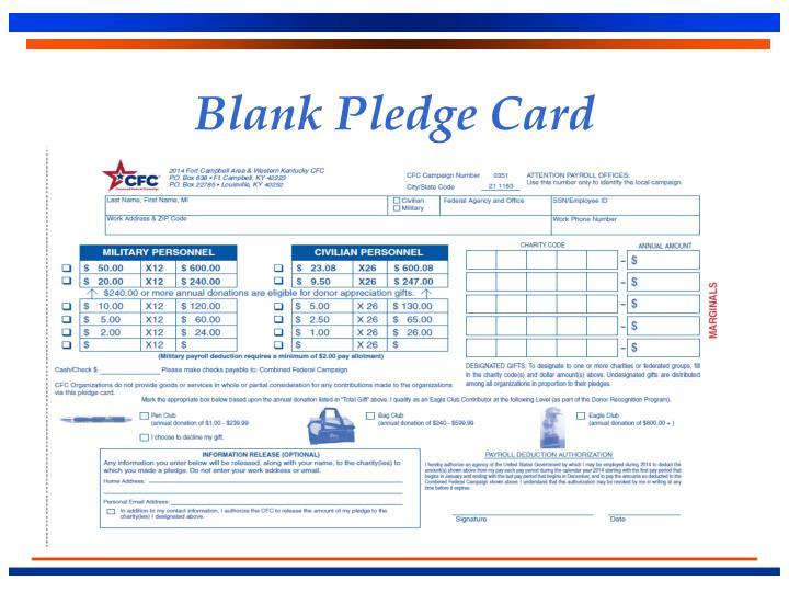 Blank Pledge Card