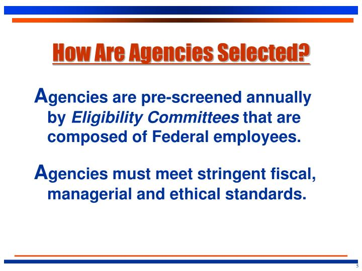 How Are Agencies Selected?