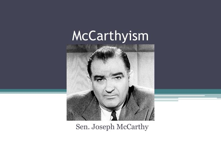 mccarthy trials essay A stunned mccarthy listened as the packed audience exploded into cheers and applause mccarthy's days as a political power were effectively over a few weeks later, the army hearings dribbled to a close with little fanfare and no charges were upheld against the army by the committee in december 1954, the senate voted to censure mccarthy.