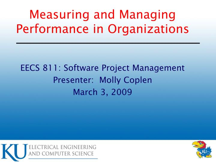 measuring and managing performance in organizations n.