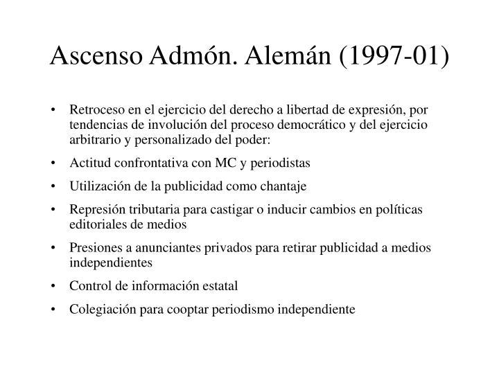Ascenso Admón. Alemán (1997-01)