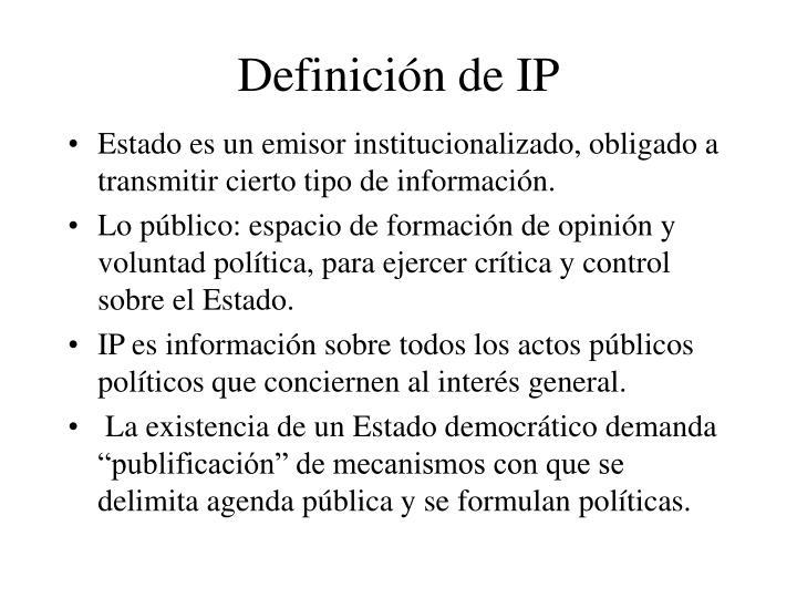 Definición de IP