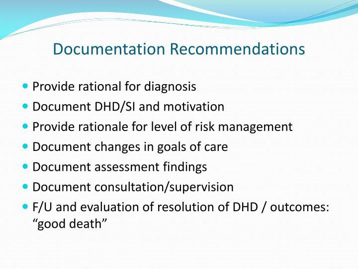 Documentation Recommendations