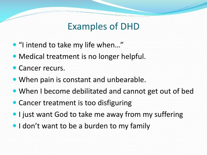 Examples of DHD