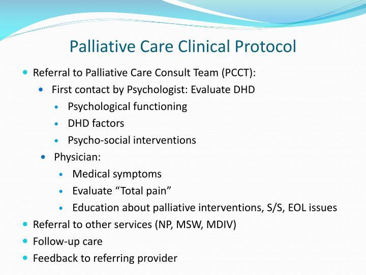 Palliative Care Clinical Protocol