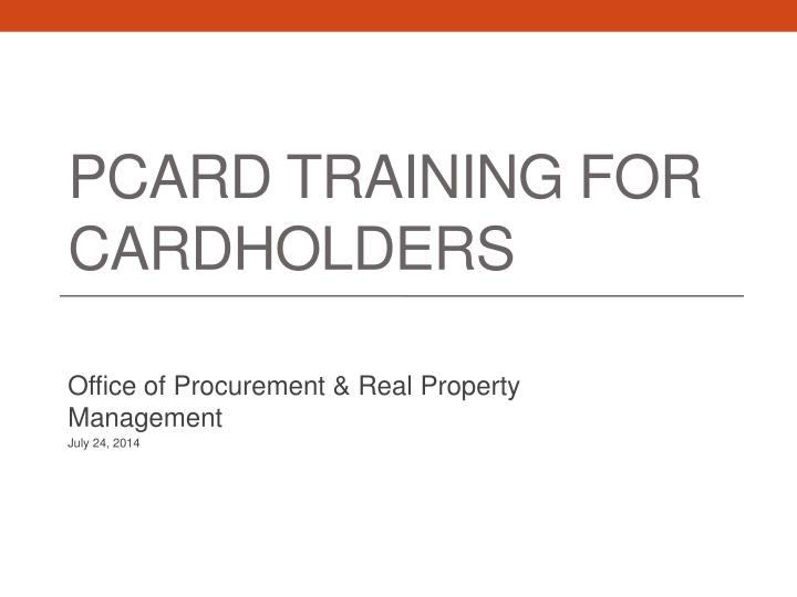 pcard training for cardholders n.