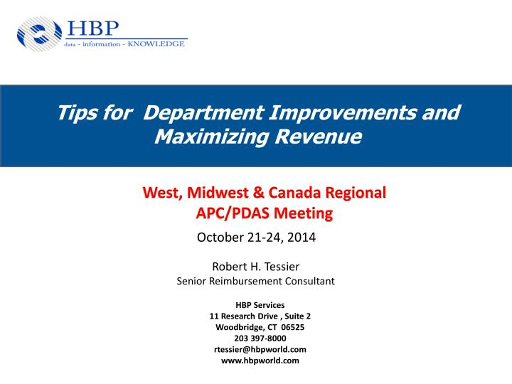 tips for department improvements and maximizing revenue n.