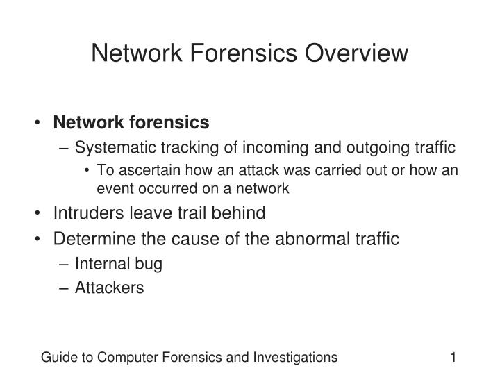 network forensics overview n.