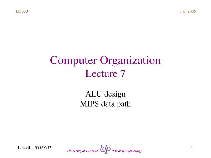 Ppt Computer Organization Lecture 7 Powerpoint Presentation Free Download Id 5811295