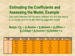 estimating the coefficients and assessing the model example2