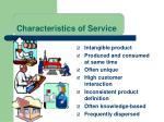 characteristics of service