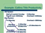 example collins title productivity2