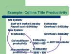 example collins title productivity6