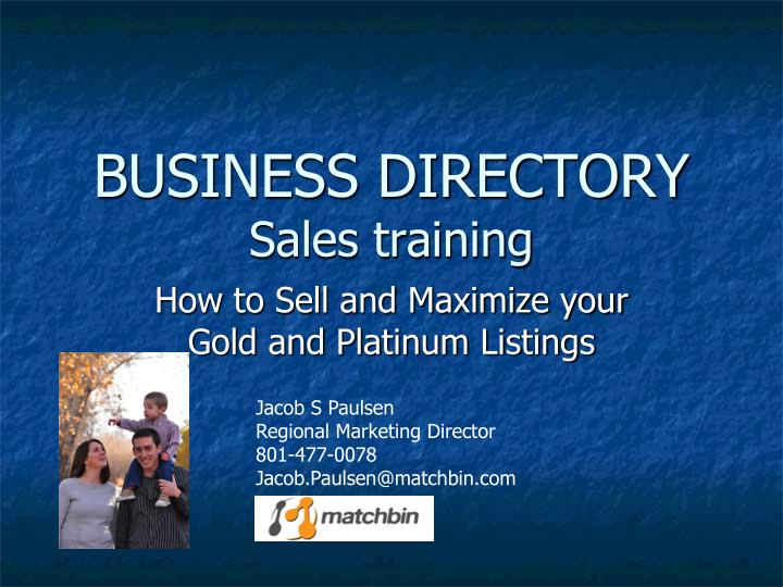 business directory sales training n.
