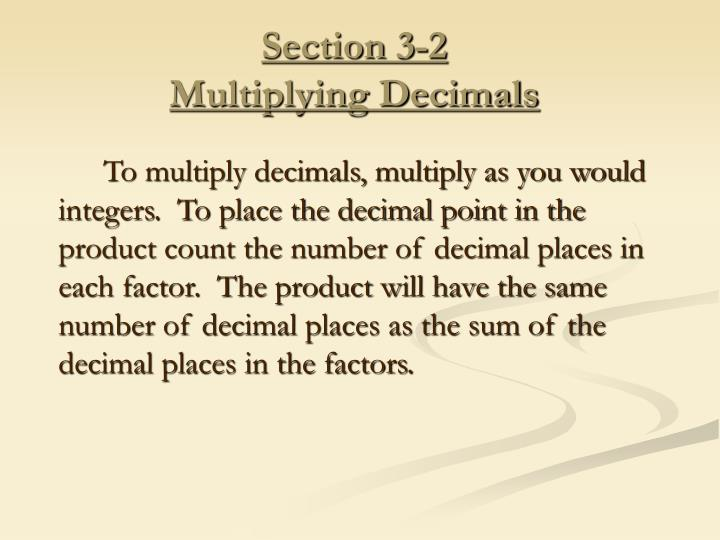 Section 3-2