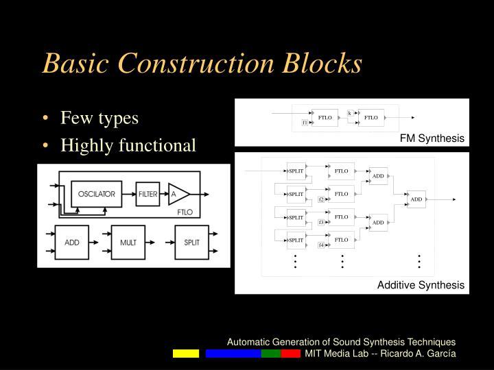 Basic Construction Blocks