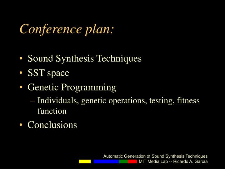 Conference plan