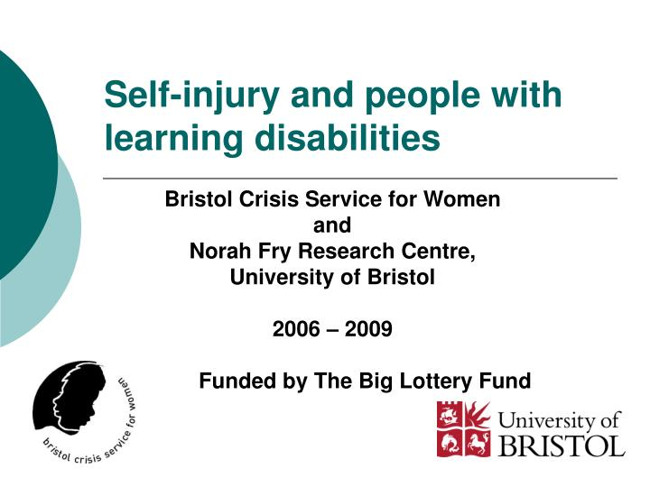self injury and people with learning disabilities