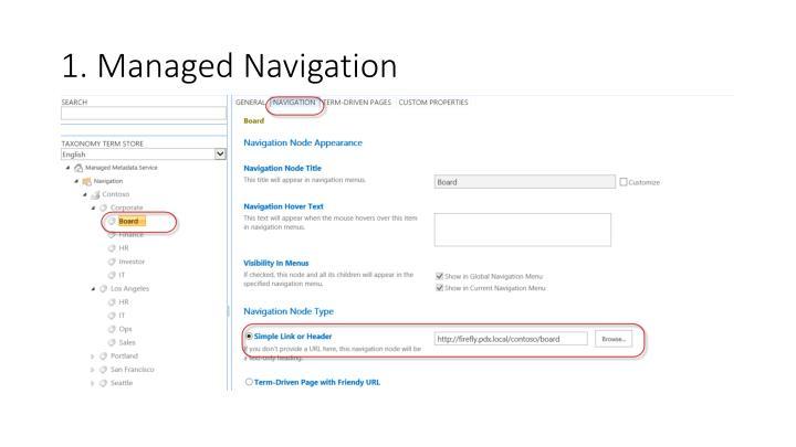 1. Managed Navigation