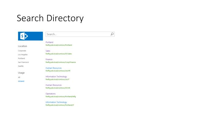 Search Directory