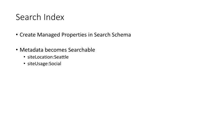 Search Index