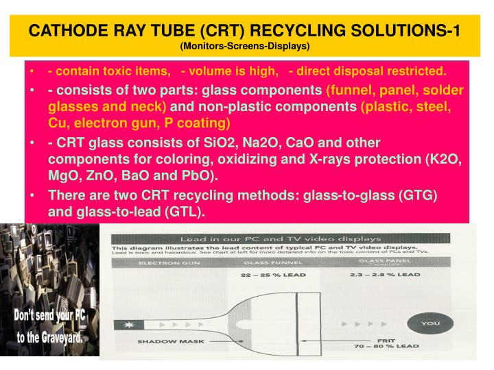 recycling cathode ray tube and toxic