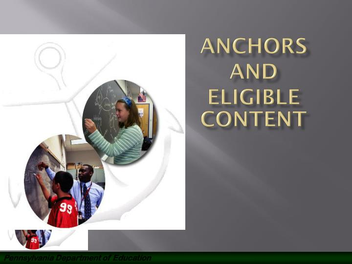 anchors and eligible content n.