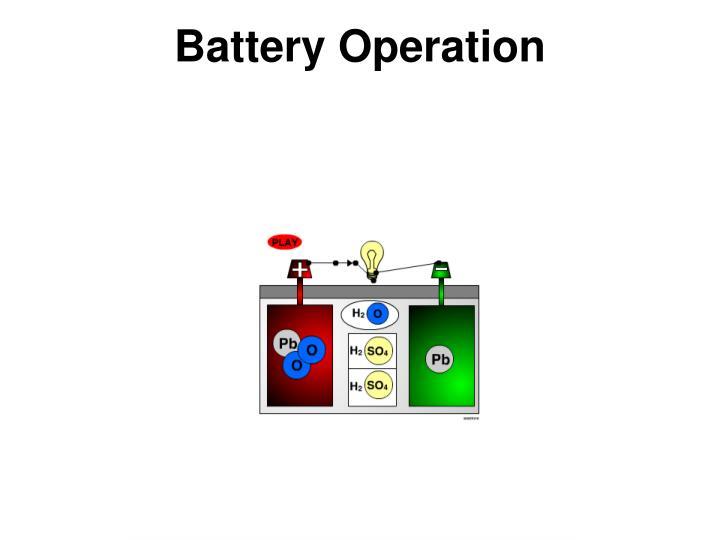 Battery Operation