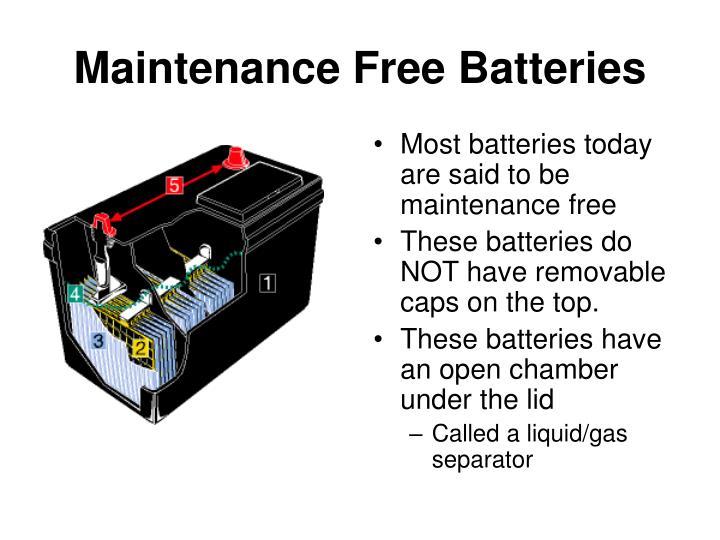 Maintenance Free Batteries
