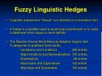 fuzzy linguistic hedges
