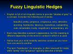 fuzzy linguistic hedges1