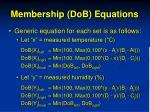 membership dob equations