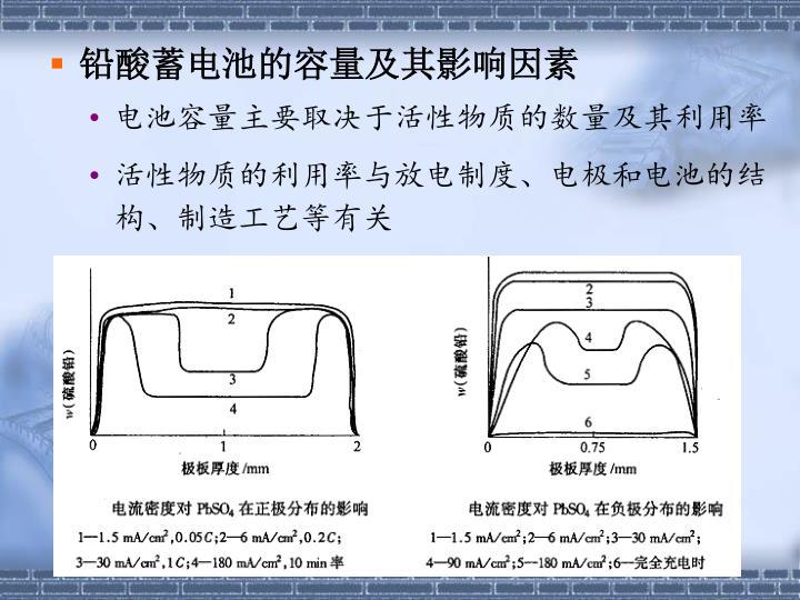 铅酸蓄电池的容量及其影响因素