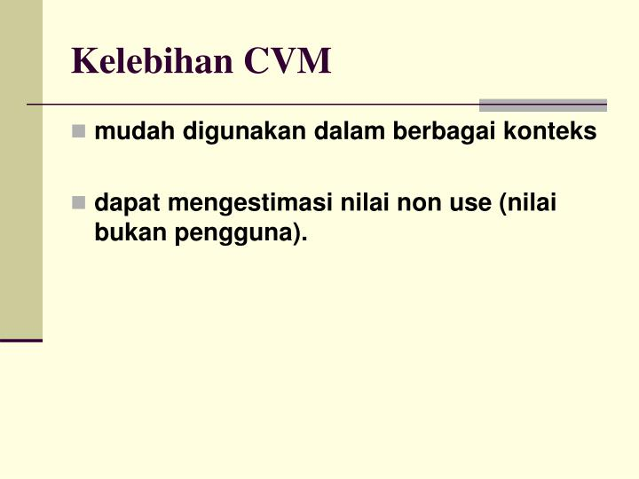 Kelebihan CVM