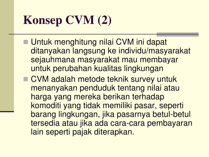 Konsep CVM (2)