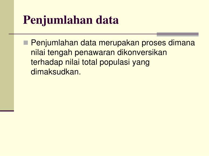 Penjumlahan data