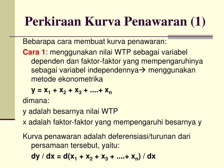 Perkiraan Kurva Penawaran (1)