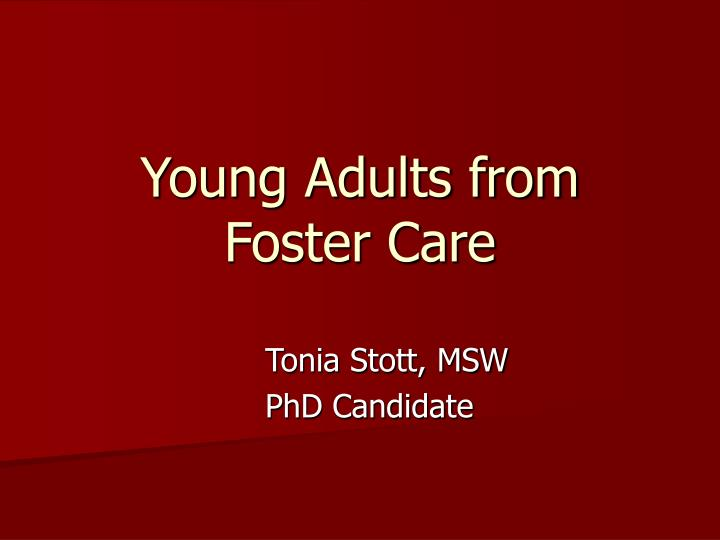 young adults from foster care n.