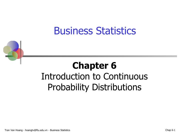 chapter 6 introduction to continuous probability distributions n.